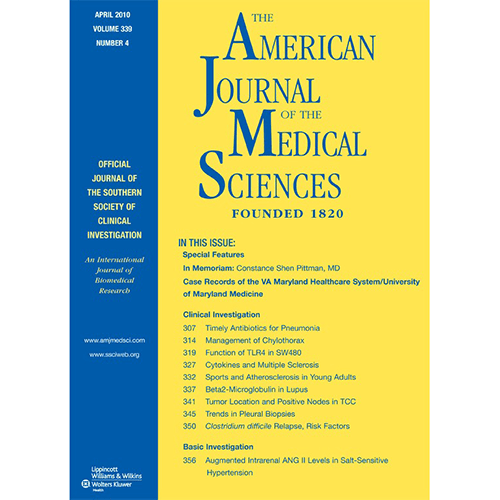 The American Journal of the Medical Sciences, PMID: 20944497